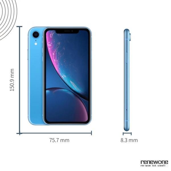 Apple iPhone XR | 64 GB | blau | Sehr gut