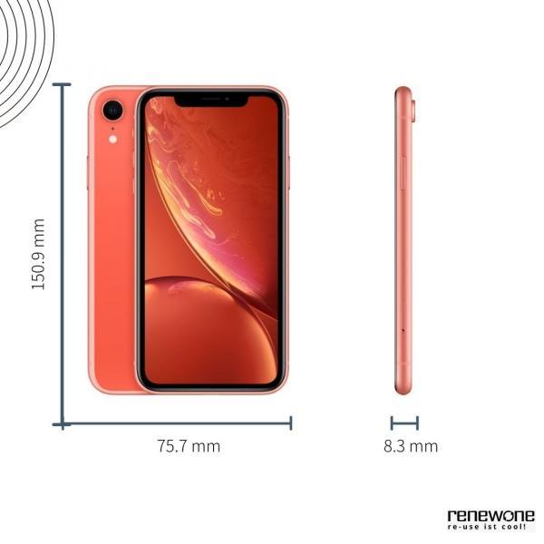 Apple iPhone XR   128 GB   koralle   Wie neu