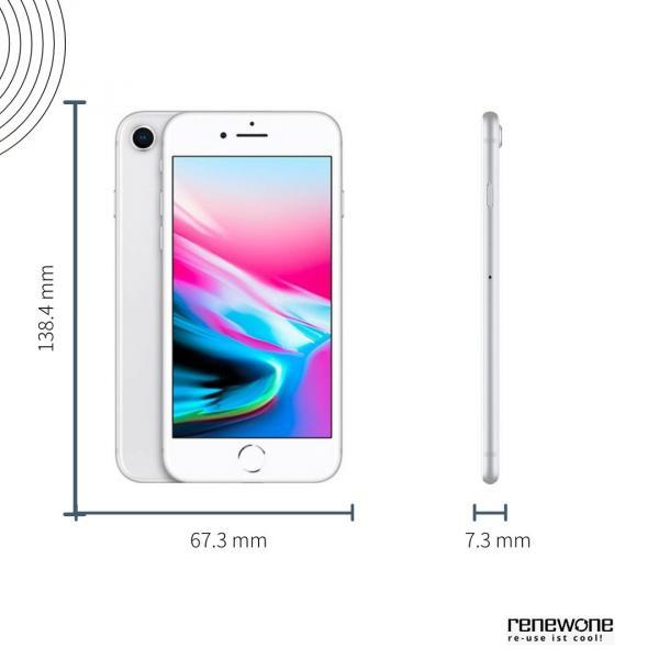 Apple iPhone 8   64 GB   silber   Wie neu